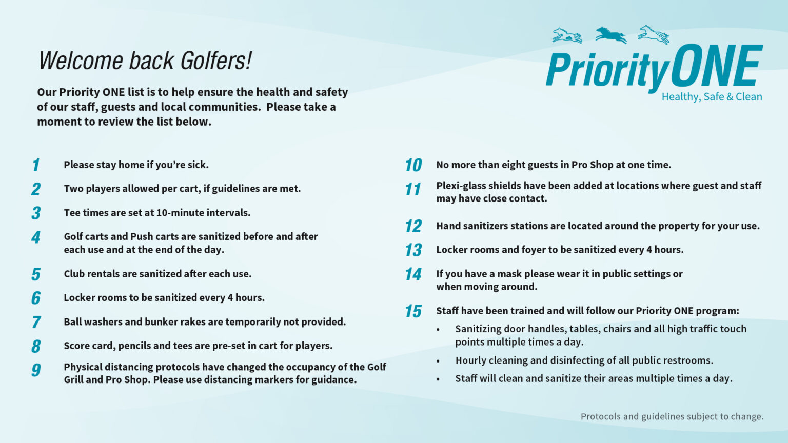 Golf Priority One
