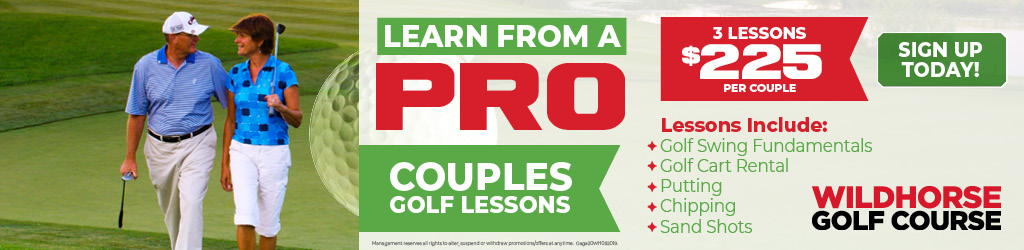 Couples Golf Lessons Ad